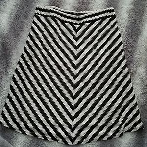 Zac & Rachel Striped Sweater A-line Skirt